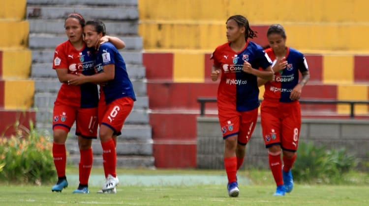 Real San Andrés y Medellín, igualaron en los cuartos de final de la Liga Femenina